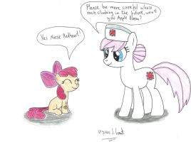 Nurse Redheart and Apple Bloom by UlyssesGrant