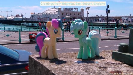 Lyra and Bon Bon at Brighton Pier by Jacko247