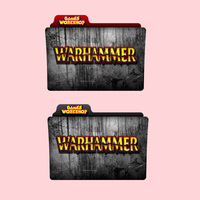 Warhammer Games Workshop Red / Black Folder Icon by alacazain