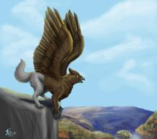 GAU gryphon exchange by AzuraRiverja