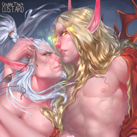 Kael'Thas x Lor'Themar by Doublethickcustard