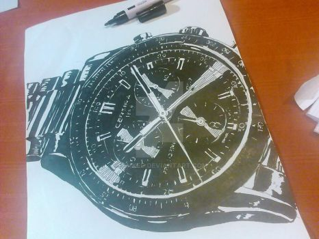 watch with black marker by FemkeD