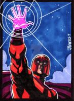 Magneto  Sketch card by dadicus