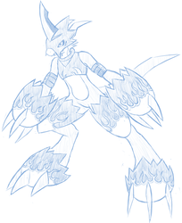 Flamedramon Sketch by Pavagat