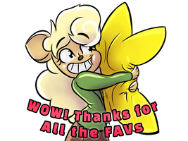 DevArt-Sticker WOW-So-Many-FAVs FINAL-IMG-04 by FilmmakerJ