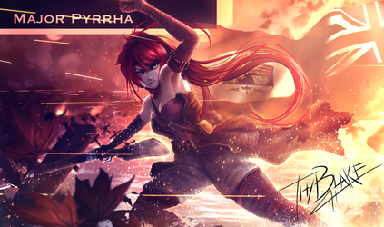 RWBY [WW2 Nations] Canada - Pyrrha by ThyBlake
