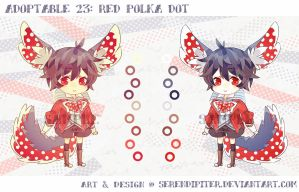 Adoptable 23: Red Polka Dot by Staccatos