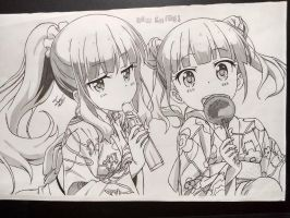 Aoba and Hifumi (New Game!) by JcDesk