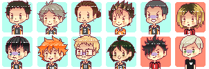 F2U: Haikyuu Pixel Icons by teasomething