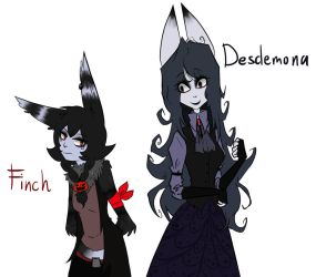 Finch and Desdemona by GrimmSkitz
