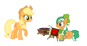 Mother's Day Pic-Applejack and Alexis by EmoshyVinyl