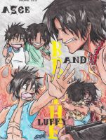 Ace n luffy memorial finished by Marimokun