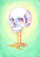 Dripping Rainbow Skull by juliawaters