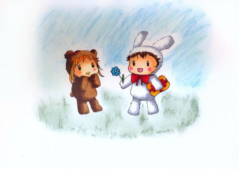 Bunny and Bear by Gaddai