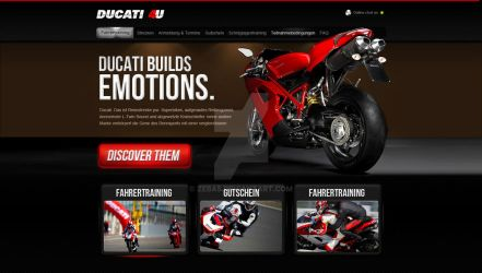 ducati website for contest by zeba5