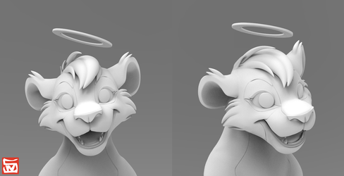 3D Bust - Kitchiki by CynicalPlant