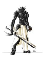 Black Knight of Nar' Vheen by Six-Winged-Angel