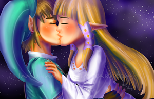 Kiss in the Moonlight by Cascadena