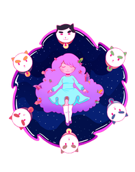 Bee and Puppycat t-shirt design 2 by BakaDollie