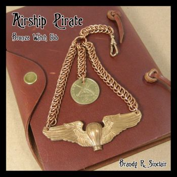 Airship Pirate - Watch Fob by crazed-fangirl