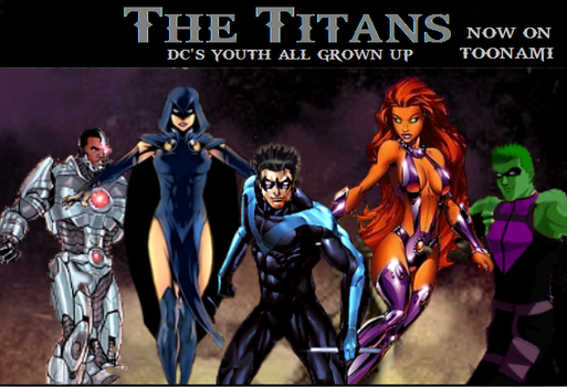 The Titans: Teen titans all Grown up by Tony-Antwonio