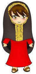 Little girl in traditional clothes by Zazi-chan