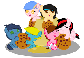 YAY cookies with 6 OCs by TwitterShy