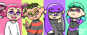 Splatoon 2: New Fresh Hairstyles by Mano-Lon