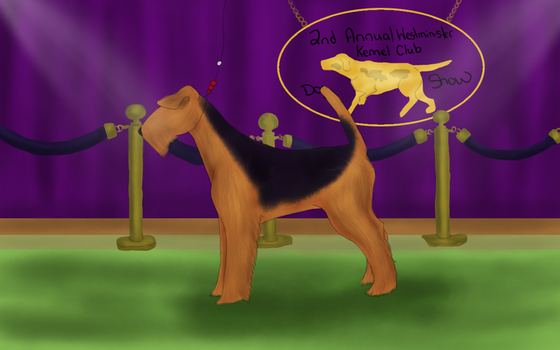 Where My Airedale's At? by Vesryna