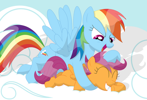 Here comes the old rainbow noogie by Porygon2z