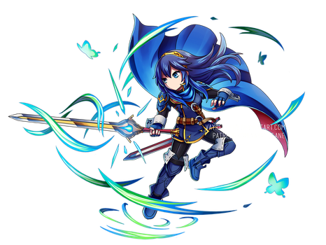 Fire Emblem Heroes x BF - Future Witness Lucina by Vayreceane