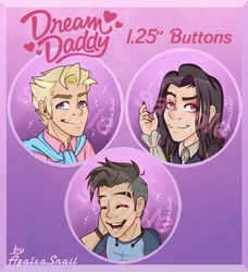 Dream Daddy Buttons by MelchiorFlyer