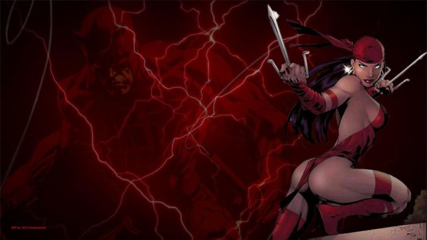 Elektra Wallpaper - Daredevil by Curtdawg53