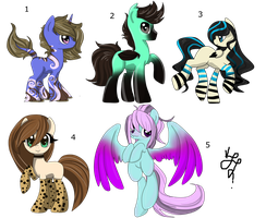 SALE MLP Leftover Adopts (1/5 open) by ProjectBlastArt
