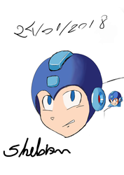 Rockman - digital painting training by TenkoK1tsune