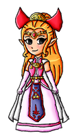 Four Swords Zelda by ninpeachlover