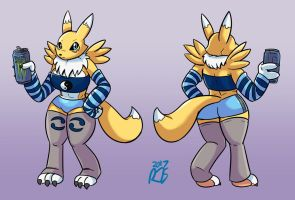 Commission: Renamon by ronnieraccoon