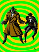 Green Hornet and Kato Golden Age by jaypiscopo