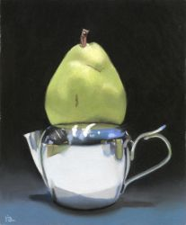 milk pitcher and a pear by classina