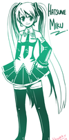 Hatsune Miku -Green- by Azelilia