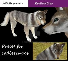 RealisticGrey for codieechaos~~ by JeiDoll