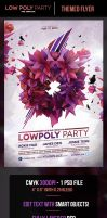 LowPoly Party Flyer Template by odindesign