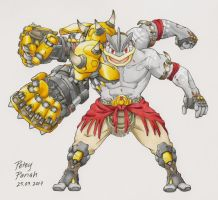 Pokemon X Overwatch: Machamp X Doomfist