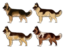 German Shepherd Design Batch - 1/4 Open by Miss-Adopts