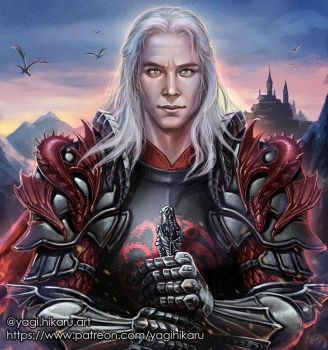 Rhaegar Targaryen [Game of Thrones] by yagihikaru
