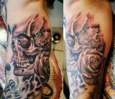 Skull tattoo bg 2 by gettattoo