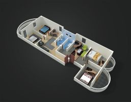 Chalet's 3D floor plan by abdollah4ever