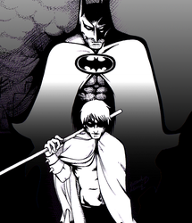 Batman and Robin: Sons Of Tragedy INKED LINEART by kay-sama