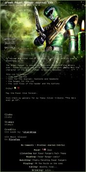 Green Power Ranger Journal Css by stardrop