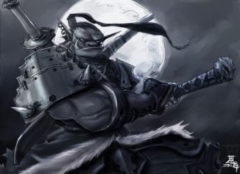 Orc Blademaster by Zeng